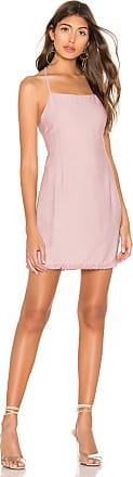 Superdown Faye Tie Back Dress in Pink