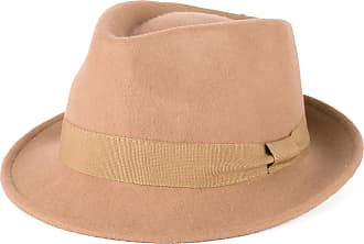 Hat To Socks Beige Wool Trilby Hat with Grosgrain Band Handmade in Italy