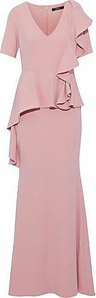 Badgley Mischka Badgley Mischka Woman Ruffled Cady Peplum Gown Blush Size 0
