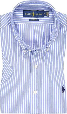 Polo Ralph Lauren Kurzarmhemd mit Streifen, Custom Fit von Polo Ralph Lauren in Hellblau für Herren