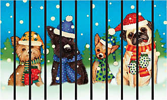 Better Homes & Gardens Masterpiece Dogs with Scarves Doormat - BH57-012-199-08