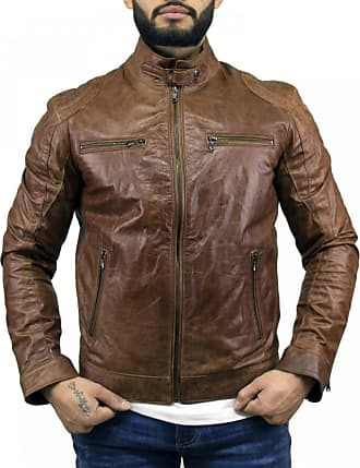 Leather Trend Italy Avatar - Giacca Uomo in Vera Pelle colore Cuoio Oil Vintage