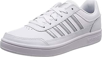 K-Swiss Classic Metallic Farben Damen Sneaker Schuhe Silber Weiß NEU