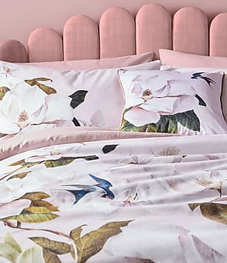 Ted Baker Cotton Opal Pillowcase Pair in Pale Pink OZITI, Home