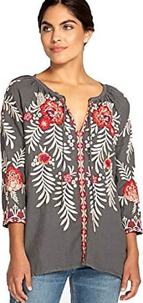 Johnny Was Womens Tiwa Peasant Blouse, Voltage, S