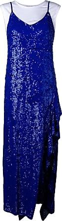 P.A.R.O.S.H. layered sequin dress - Blue