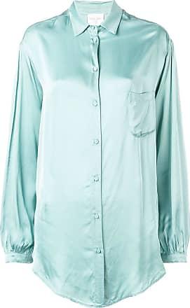 Forte_Forte Camisa mangas longas amplas - Azul