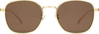 Bottega Veneta Round Metal Sunglasses - Mens - Gold