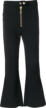 ae5278b048a9 Ellery zipped cropped flared trousers - Black