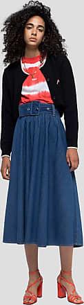Msgm long skirt in denim