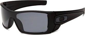 Oakley Mens Batwolf Polarized Rectangular Sunglasses,Matte Black Frame/Grey Lens,one size