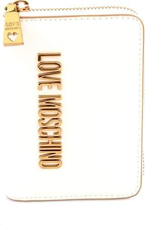 Love Moschino Moschino Love Moschino Womens Logo Zip Around Wallet One Size White