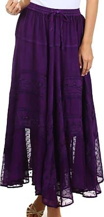 Sakkas 13222 Ivy Maiden Boho Skirt - Purple - One Size Plus