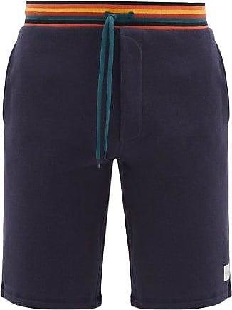 Paul Smith Striped-waistband Cotton Pyjama Shorts - Mens - Navy