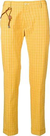 Berwich Calça com estampa xadrez - Amarelo