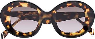 Kaleos Óculos de sol redondo Arcos com efeito tartaruga - Marrom