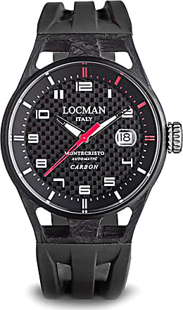 Locman Watch for Men, Black, Carbon, 2017, One Size