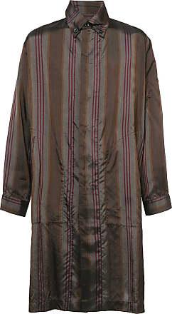 Uma Wang striped shirt coat - Brown