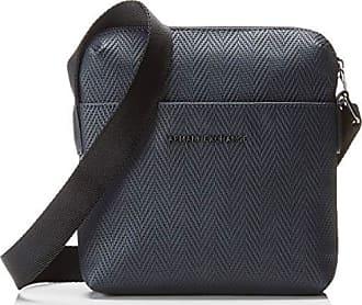 213570ee4f Armani Old Logo Crossbody Bag - Borsa Messenger Uomo, Blu (Blue Chevron),
