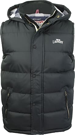 Tokyo Laundry Mens Tokyo Laundry McCrooke Hooded Quilted Gilet - Black - Size - Small