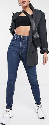Weekday Body high-waist skinny jean in dark blue wash