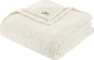 Woolrich Burlington Luxury Berber Blanket Ivory 9090 Full/Queen Size Premium Soft Cozy Soft Berber For Bed, Coach or Sofa