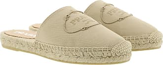 Prada Espadrilles - Logo Embroidery Espadrilles Cord - beige - Espadrilles for ladies