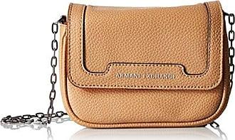 A X Armani Exchange Pebbled Faux Leather Crossbody, Camel Tan/Orange