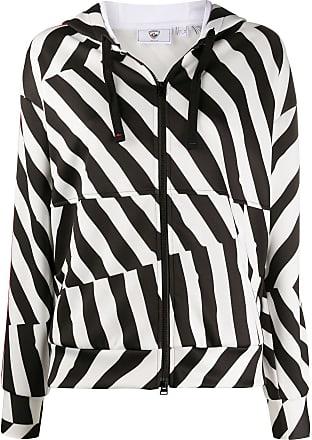 Rossignol x JCC disconnected stripe zip-through hoodie - White