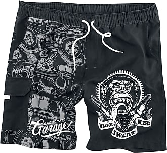 010141c1 Gas Monkey Garage Gas Monkey Garage Logo - Bade- & strandklær - Badeshorts  - svart