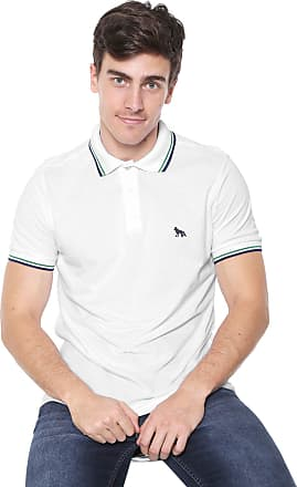 a8bde3dca Acostamento Camisa Polo Acostamento Reta Listras Branca