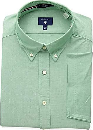 ecaf208213 GANT Mens The Fitted Oxford Short Sleeved Shirt, Kelly Green L