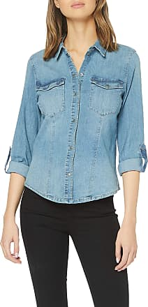 Noisy May Womens Nmdilem Ls Slim Shirt Vi027mb Noos Blouse, Blue (Medium Blue Denim), 16 (Size: X-Large)