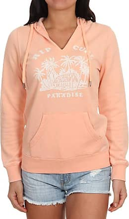 Rip Curl RC Paradise Fleece Women,Hooded Sweater,Hoodie,V-Neck,Peach Nectar,S