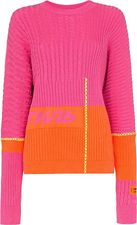 HPC Trading Co. two-toned extended sleeve knitted jumper - Rosa