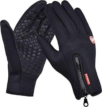 TOMWELL Outdoor Windproof Work Cycling Hunting Climbing Sport Smartphone Touchscreen Gloves for Gardening, Builders, Mechanic Black EU M
