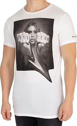 Religion Mens Hell Yeah T-Shirt, White, M