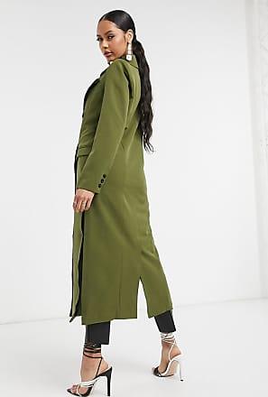 Unique21 Unique21 tailored trench coat in khaki-Green