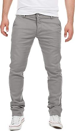 Yazubi Mens Trousers Chinos Pants Dustin Skinny Boy Slim Fit Silver Gray Smokey Cloud, Grey (Gull 4R173802), W29/L32