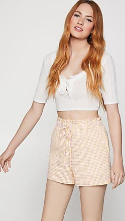 BCBGeneration Seersucker Paperbag Waist Short
