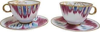 Hermès Porcelain voyage En Ikat Tea Cups Set For Two, France