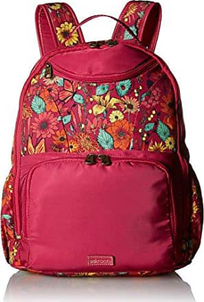 Sakroots New Adventure Madison Backpack, raspberry in bloom, One Size