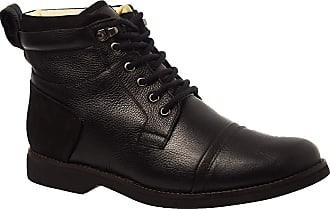 Doctor Shoes Antistaffa Coturno Masculino Gel Anatômico em Couro Preto Floater/Nobuck Preto 8617 Doctor Shoes-Preto-43