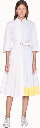 Akris Blusenkleid in A-Linie aus Baumwolle und Tailliengurt