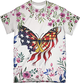NA Floral American Butterfly Breast Cancer 3D Shirt