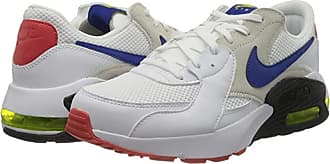 Nike Air Max Excee (White/Hyper Blue/Bright Cactus/Track Red) Mens Shoes