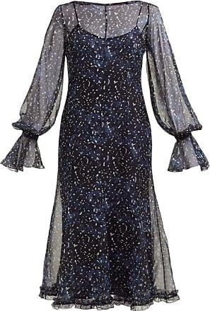 Max Mara Pavia Midi Dress - Womens - Blue Print