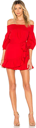 Tularosa Maida Ruffle Dress in Red