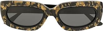 George Keburia Óculos de sol preto e dourado
