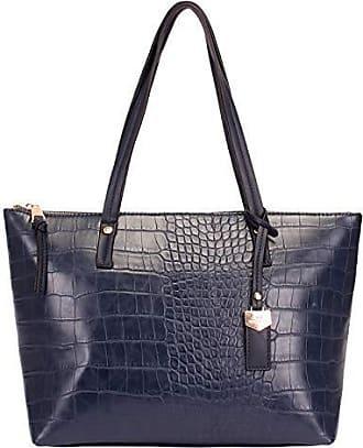 WJ Bolsa Shopping Bag Croco WJ 45054 (Azul)